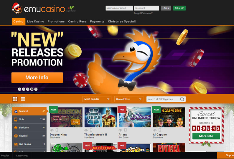 Emu Casino Is Your Way to Have Fun and Get Big Wins